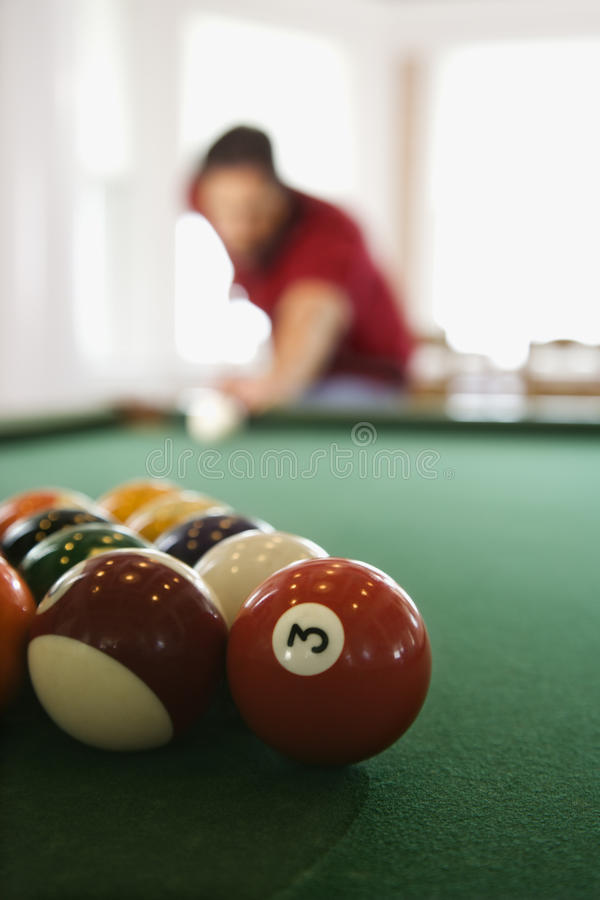 Free Man Shooting Pool Royalty Free Stock Image - 12717646