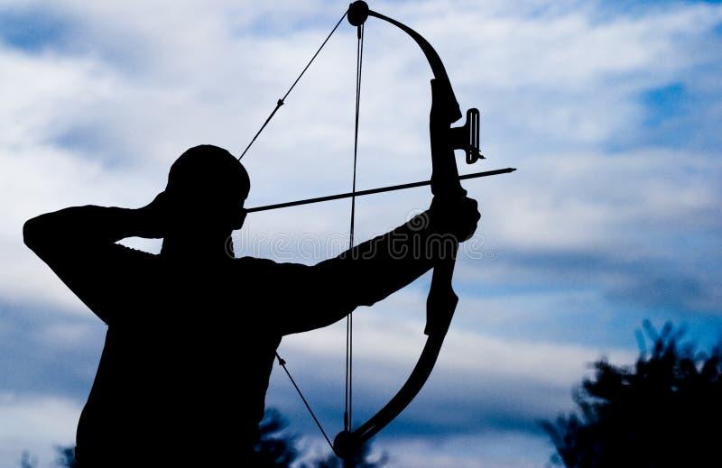 Man shooting silhouette