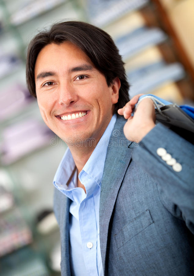 Download Man shopping stock photo. Image of clothes, shopaholic - 21886872