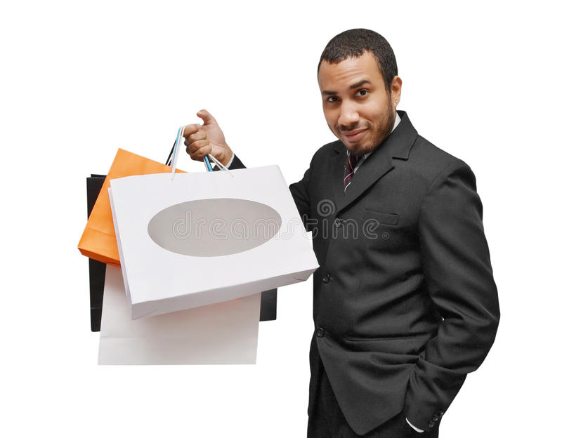 man shopping stock images
