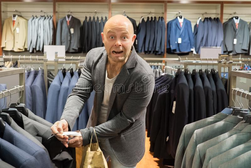 Download Man in a shopping mall stock image. Image of buying, adult - 32422143