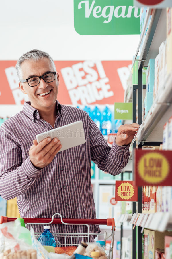 Man shopping at the store royalty free stock photography
