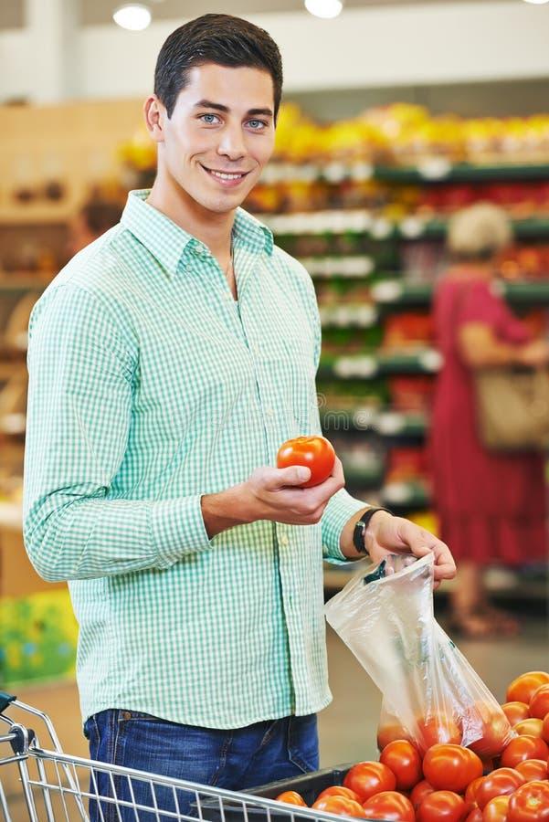 Man shopping at store royalty free stock photo
