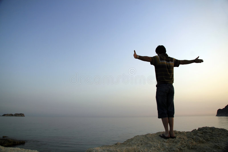 Man on Shore royalty free stock photography