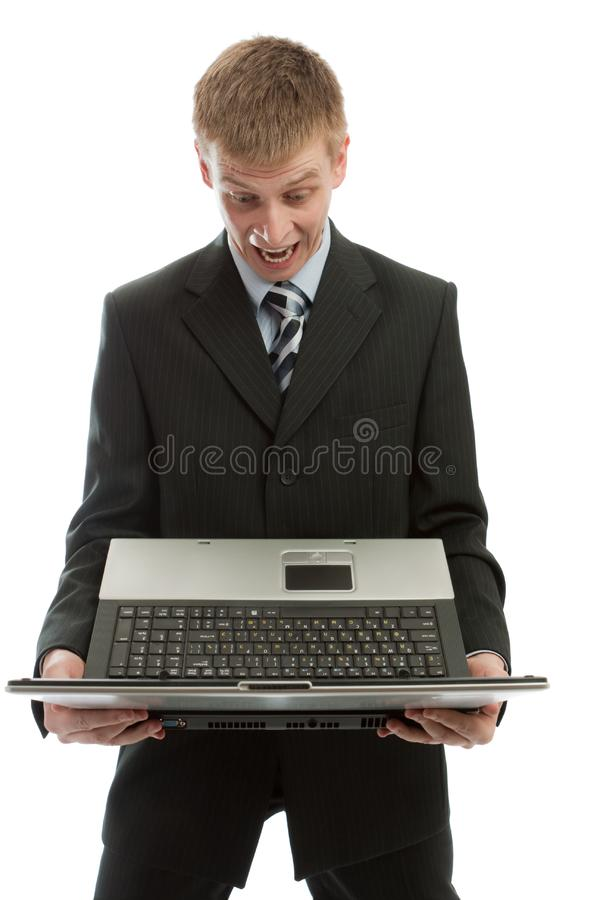 Man shouting stock photo