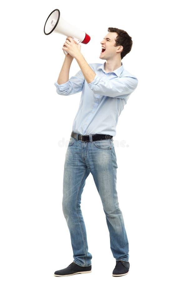 Download Man Shouting Through Megaphone Stock Photo - Image: 30985058