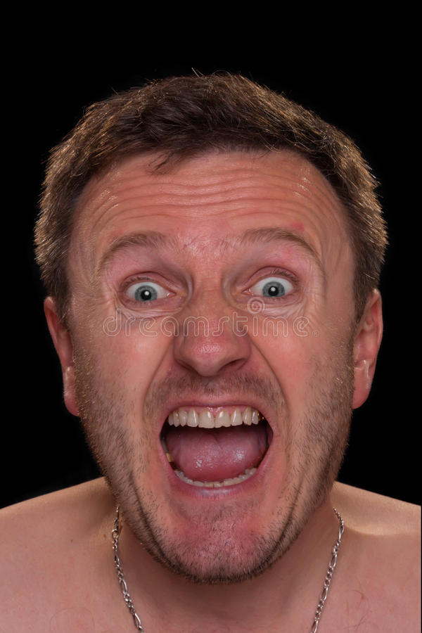 Download A man shouts stock photo. Image of stressed, horizontal - 32387560