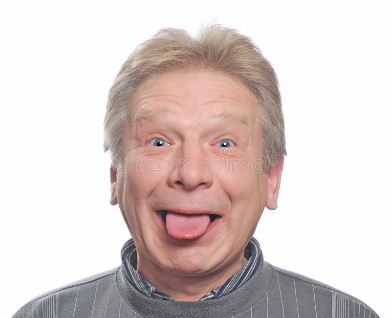 Download Man Show Tongue Stock Image - Image: 7421921