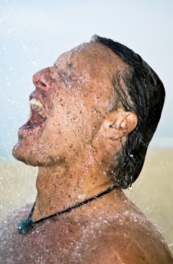 Download Man showering stock photo. Image of model, pleasure, active - 9988706