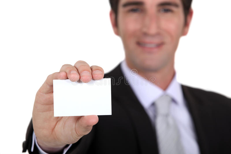 Download Man showing business card stock photo. Image of career - 33674896