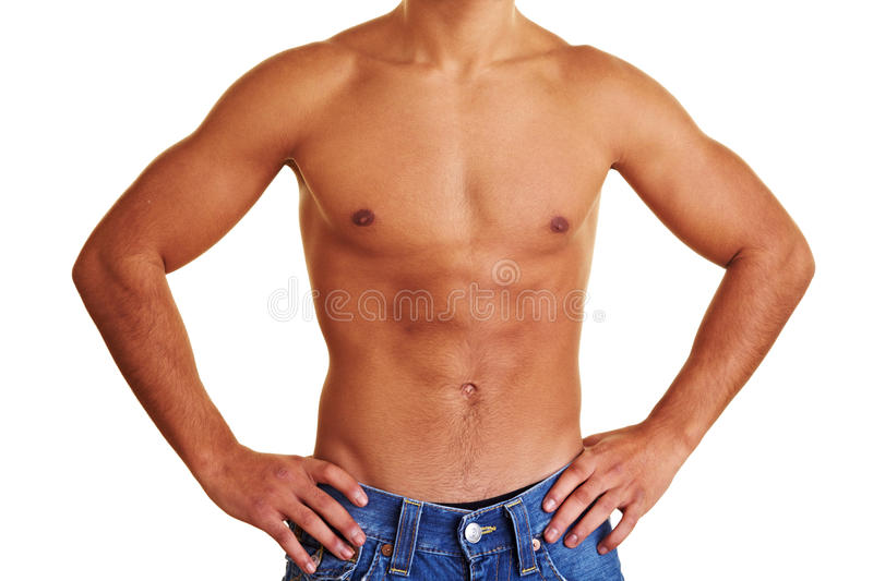 Download Man Showing His Upper Body Stock Photos - Image: 12966973