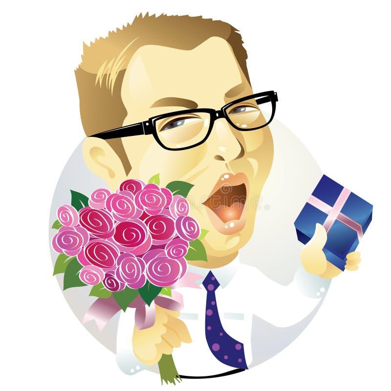 Man showing love stock illustration