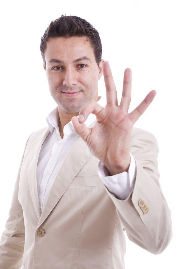Download Man showing ok gesture stock photo. Image of sensual - 11792090