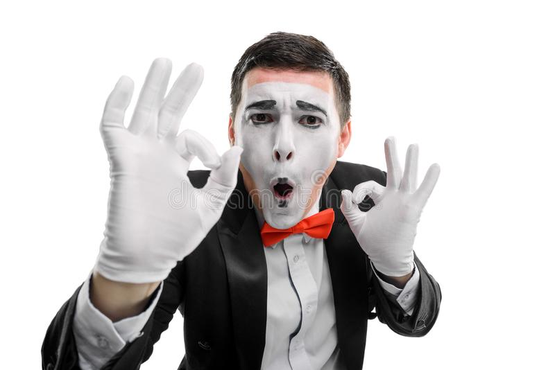 Man showing OK gesture stock images