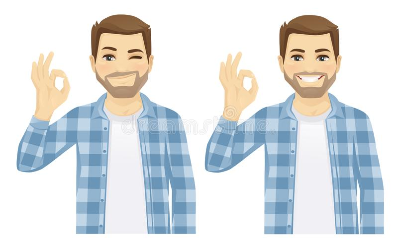 Man showing ok vector royalty free illustration