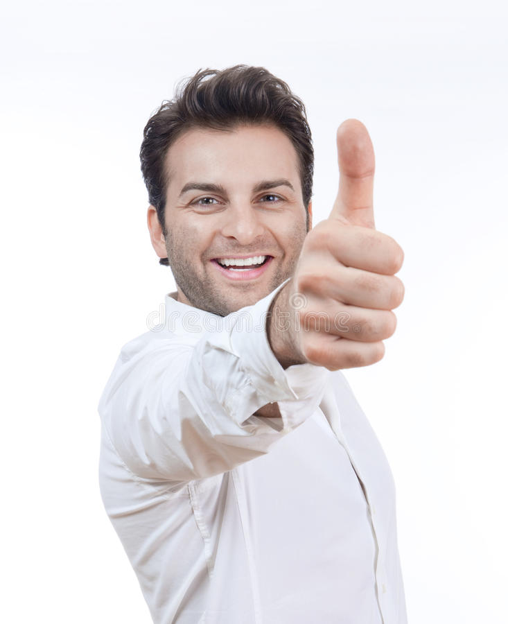 Man Showing Thumb Up Stock Images