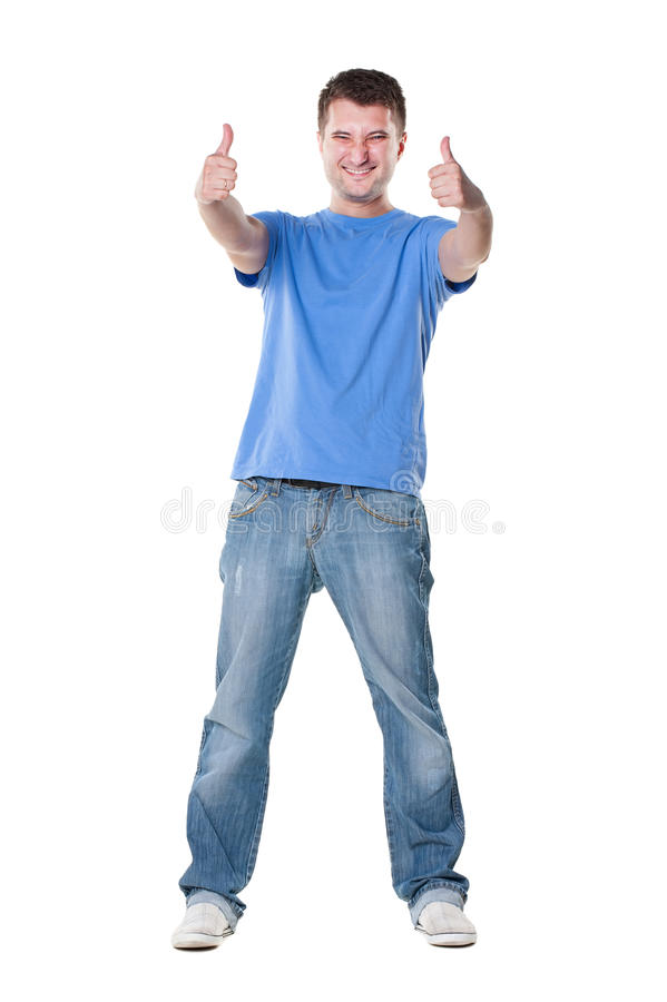 Download Man Showing Thumbs Up With Both Hands Royalty Free Stock Photos - Image: 25337778