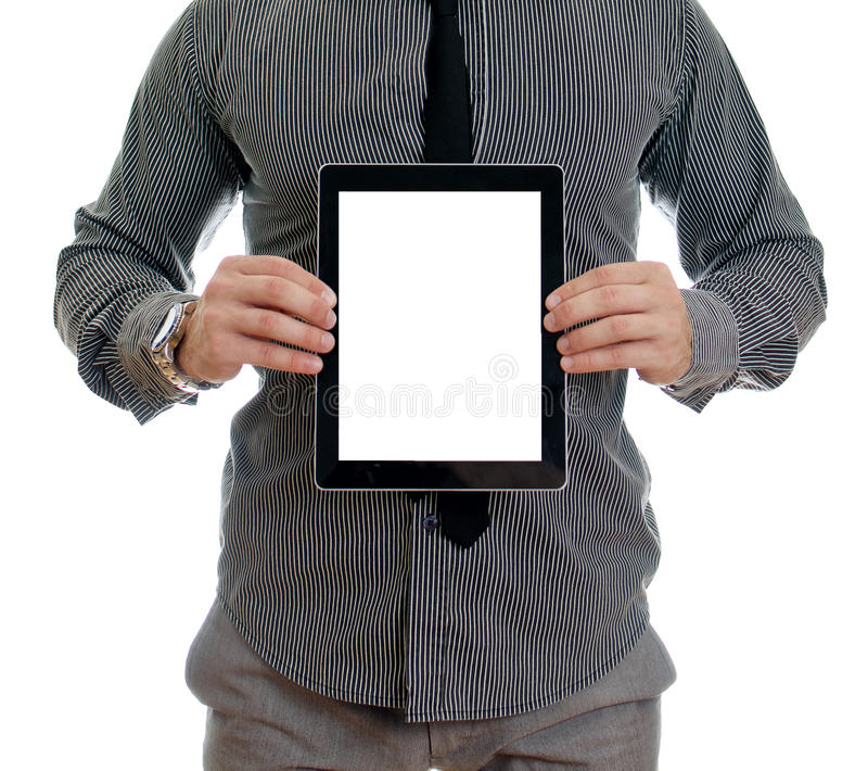 Download Man Showing Touch Screen Tablet Pc Stock Images - Image: 26831994
