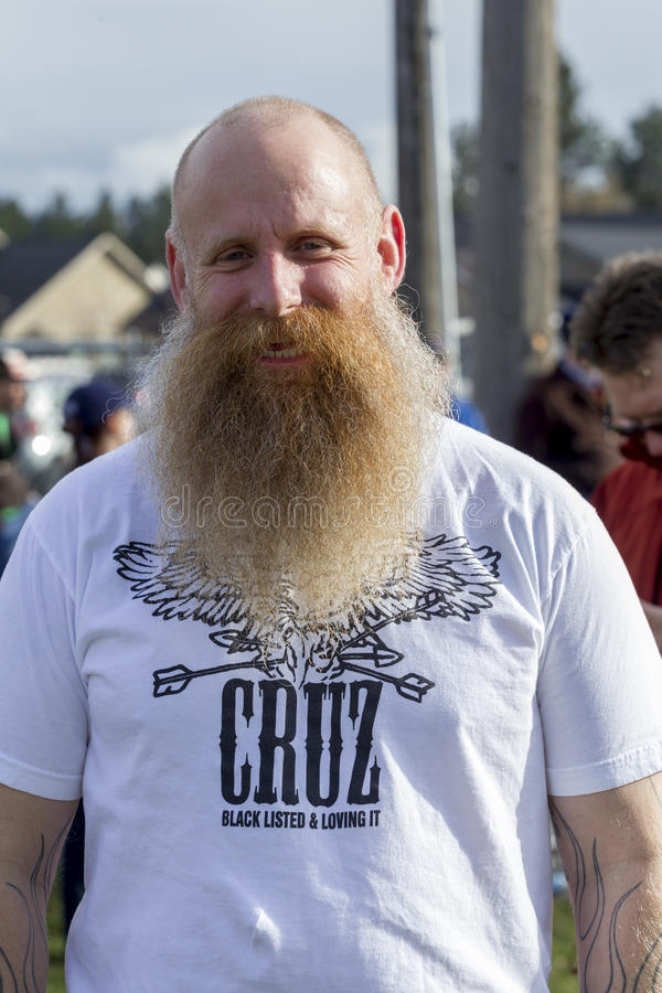 Man shows his ted cruz shirt. royalty free stock images