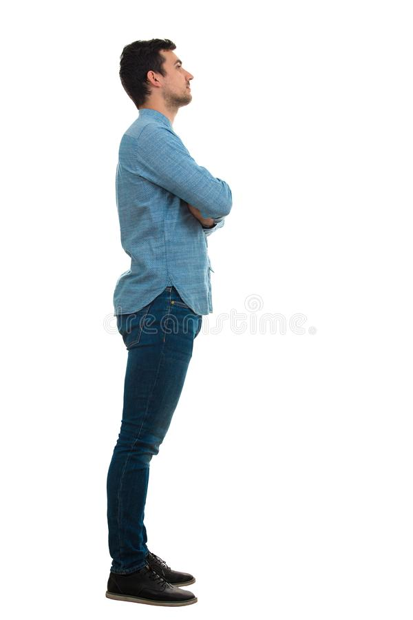 Man side view royalty free stock photography