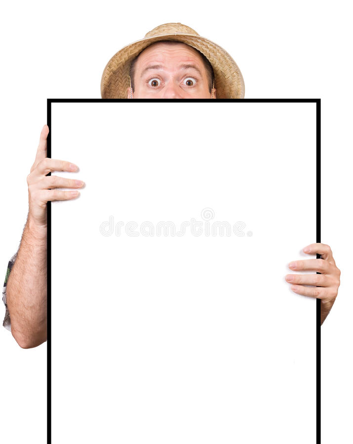 Download Man with sign stock image. Image of empty, paper, eyes - 22799071