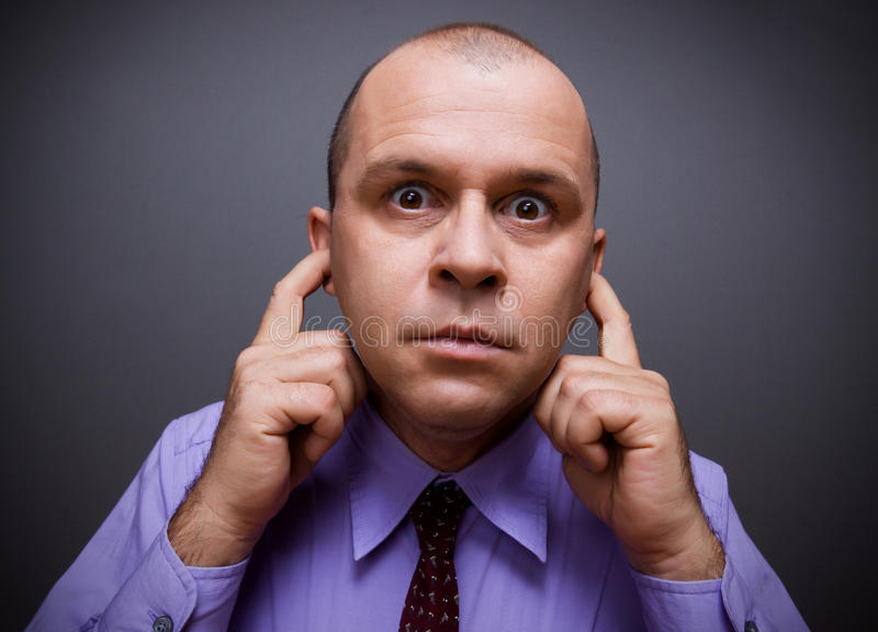 Download Man in silence stock photo. Image of people, hearing - 15600938