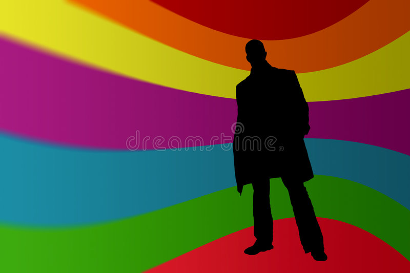 Download Man silhouete stock illustration. Image of bussiness, isolated - 1413373