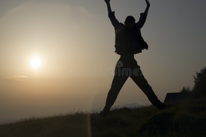 Download Man silhouette stock photo. Image of jump, people, shadow - 1195948