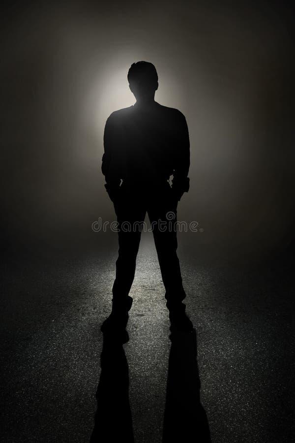Man silhouette stock illustration
