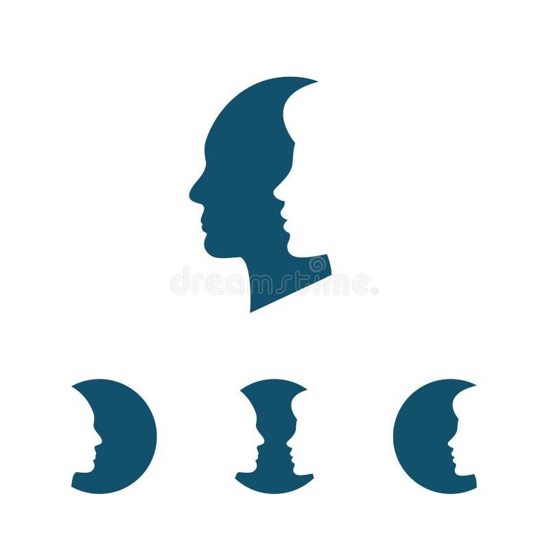 man silhouettekvinnan vektor illustrationer