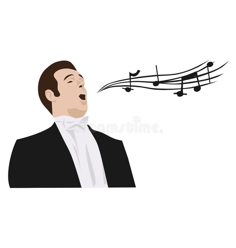Man singing opera vector illustration