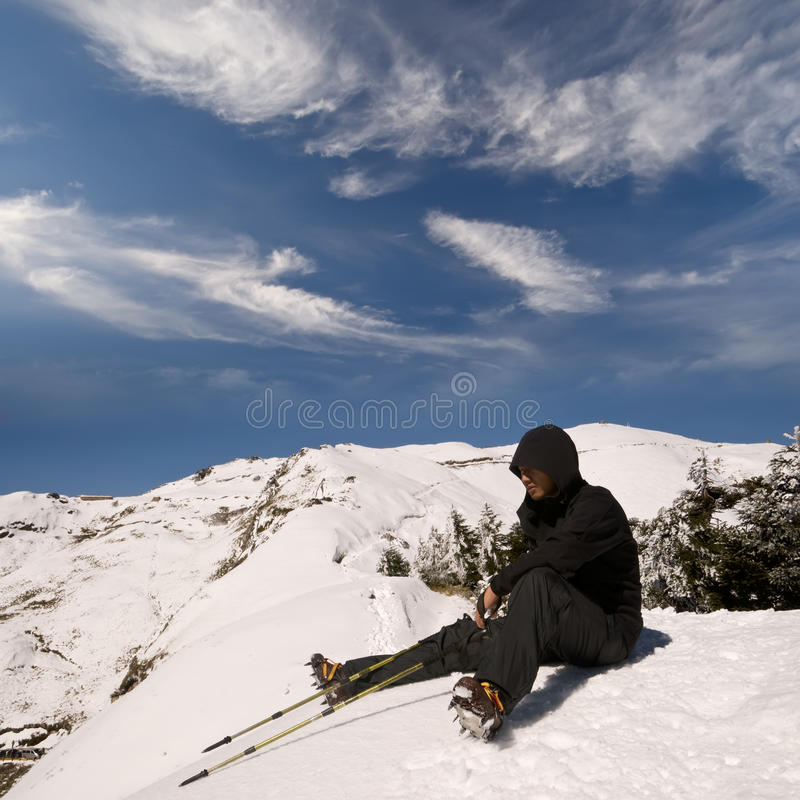Download Man sit and rest stock image. Image of asian, climb, adventure - 12656111