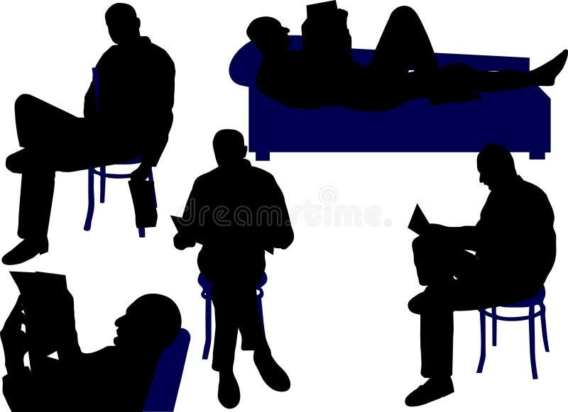 Man sitting royalty free illustration