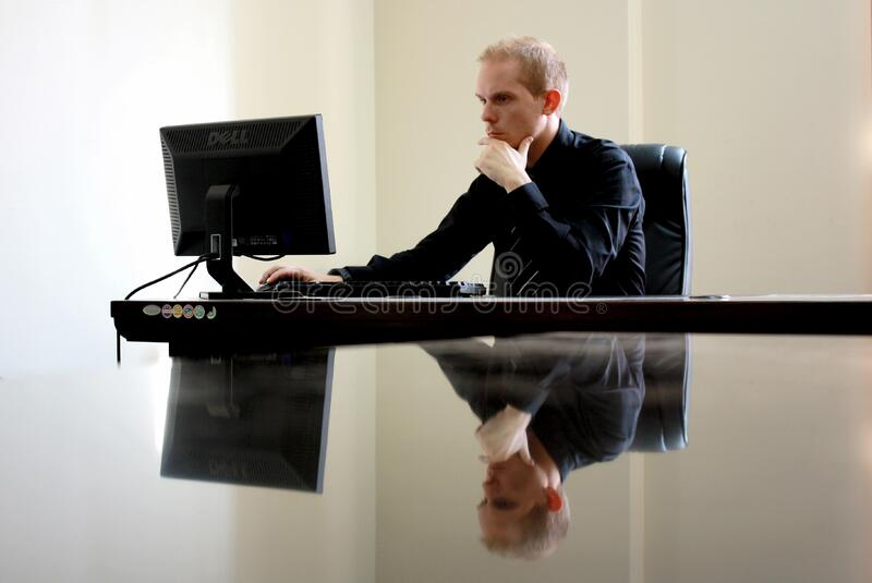 Man Sitting Facing Pc Inside Room Free Public Domain Cc0 Image