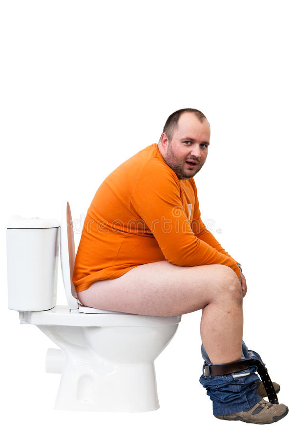 Free Man Sitting On Toilet Royalty Free Stock Photos - 16385658