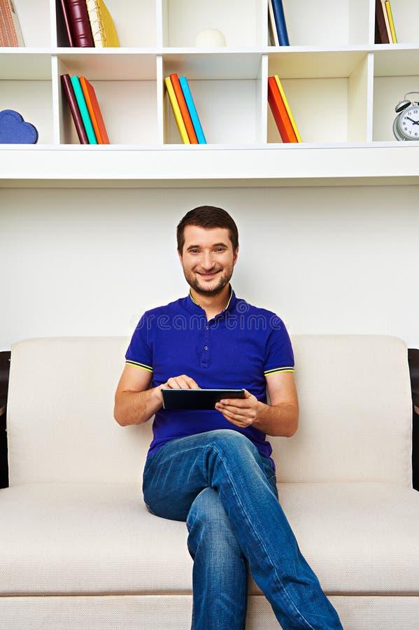Download Man sitting on sofa stock image. Image of caucasian, male - 31251591