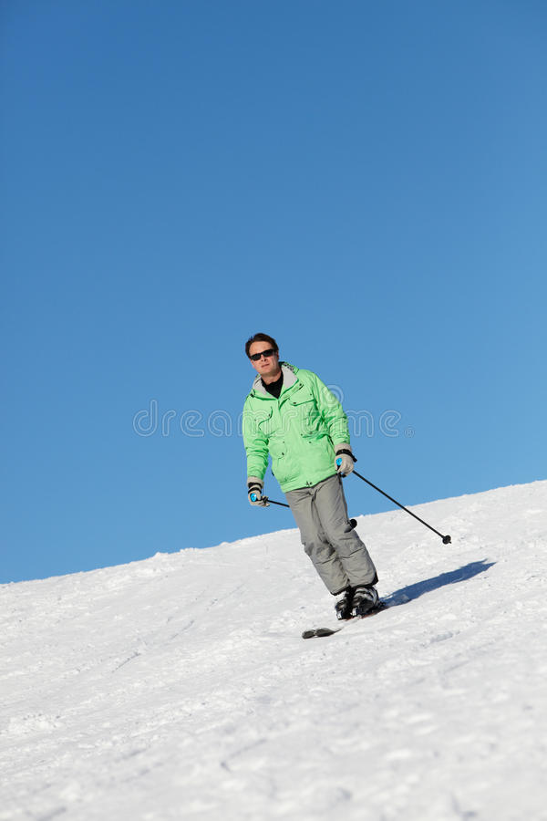Download Man On Ski Holiday stock photo. Image of france, having - 24476722