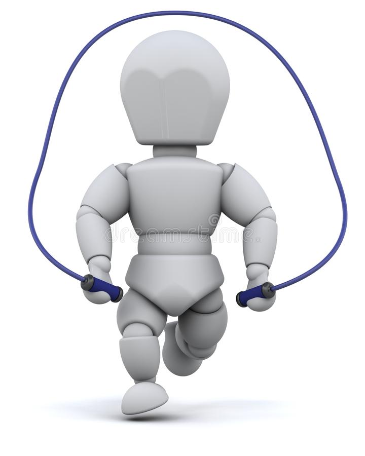 Man Skipping With Jump Rope Stock Photo