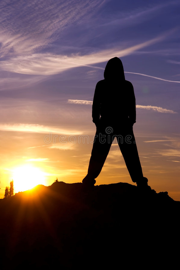 Download Man sky sunset stock image. Image of active, body, lifestyle - 6793149