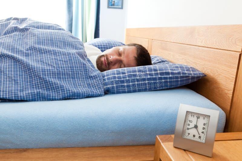 Man Sleeping Royalty Free Stock Image