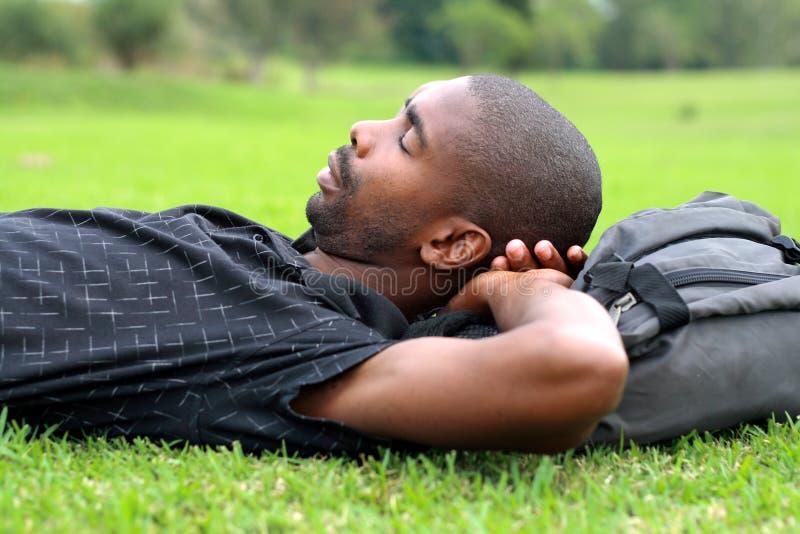 Man sleeping royalty free stock photos