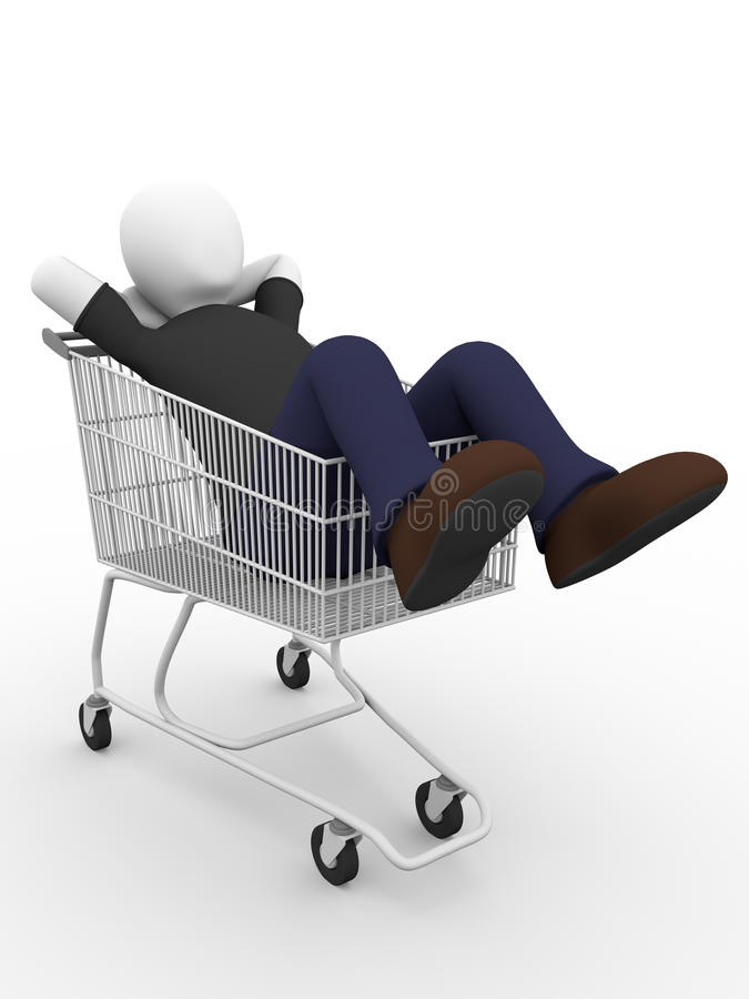 Download Man Sleeping On The Cart Stock Photography - Image: 24740002