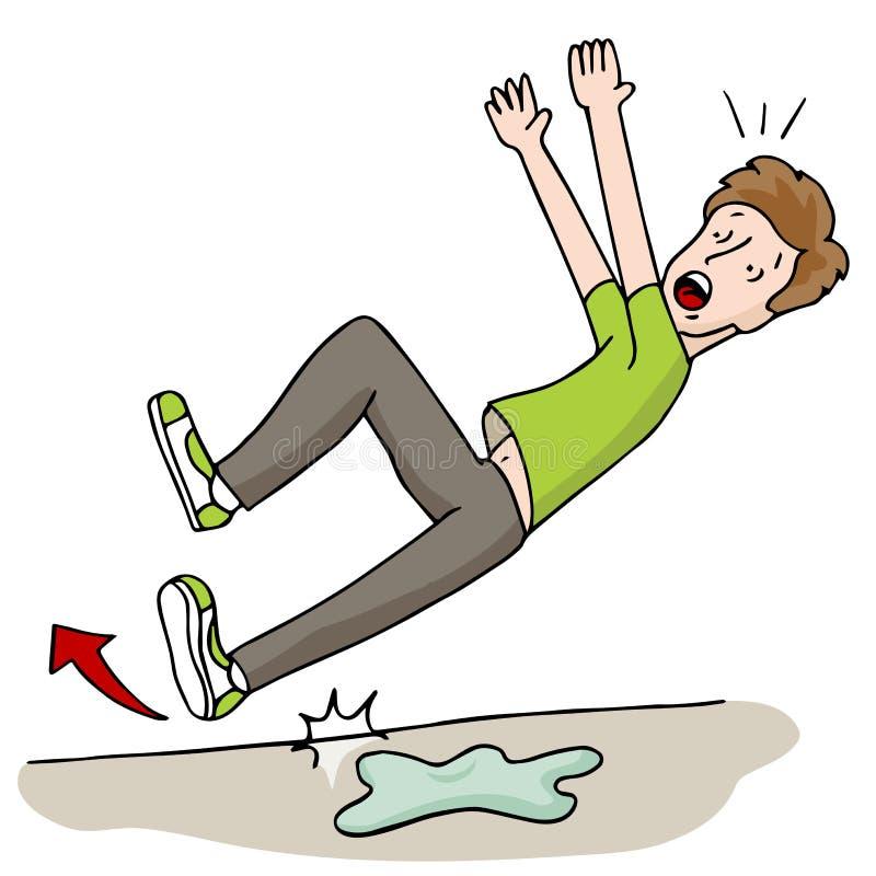 Free Man Slipping On Wet Foor Stock Photography - 41844442