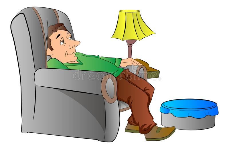 Drawing Lazy Man Couch Stock Illustrations – 50 Drawing Lazy Man ...