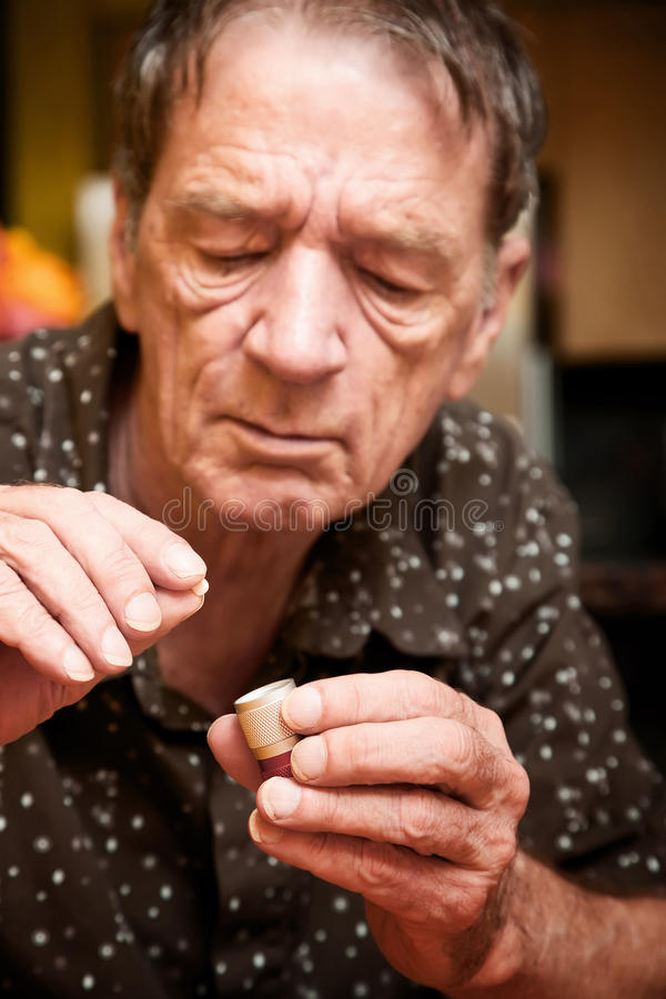 Download Man With Small Pill And Case Stock Photo - Image of case, person: 11234120