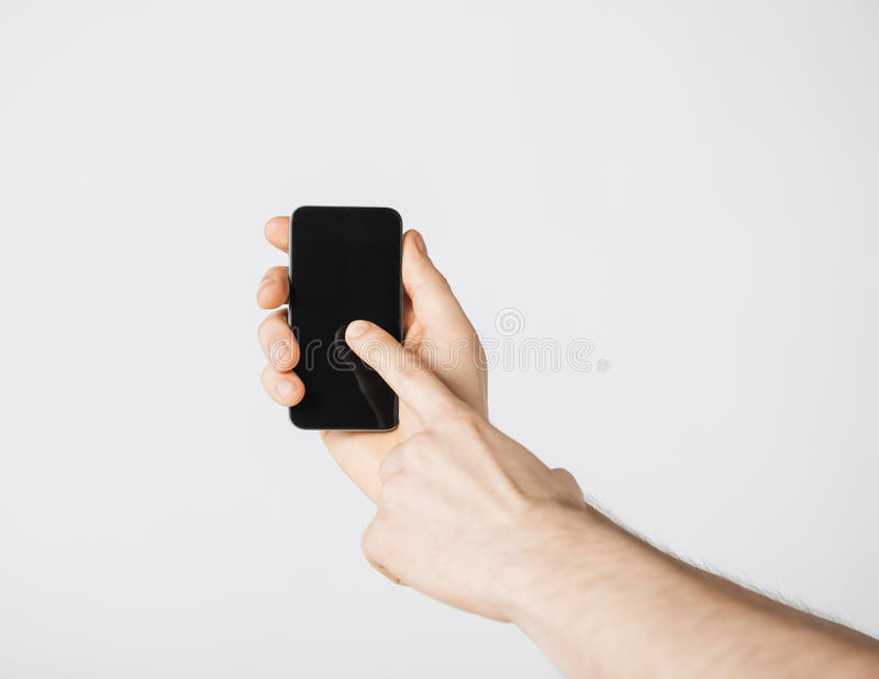 Download Man with smartphone stock photo. Image of cellular, chatting - 32284118