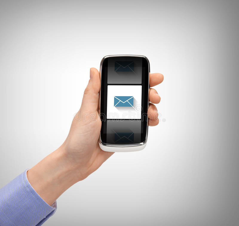 Download Man With Smartphone And Message Icon Stock Photo - Image of cellphone, internet: 37771226