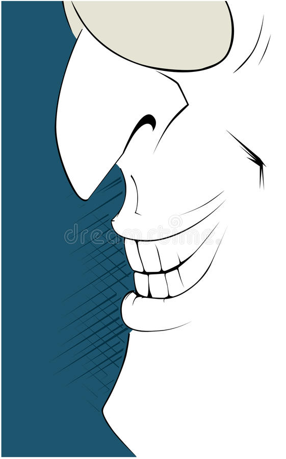 Download Man smile stock vector. Image of laughs, blue, fellows - 17371291
