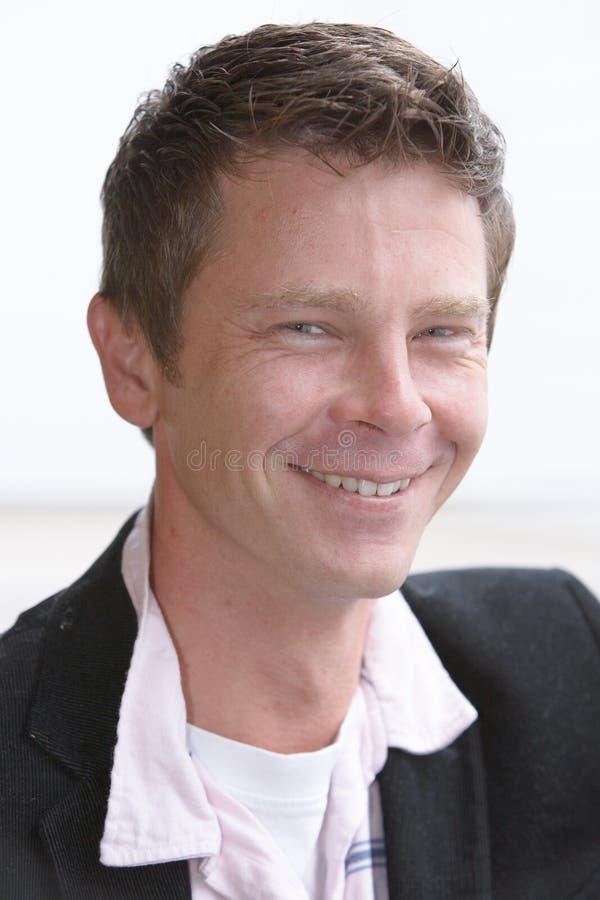 man smiles thirties στοκ φωτογραφία με δικαίωμα ελεύθερης χρήσης