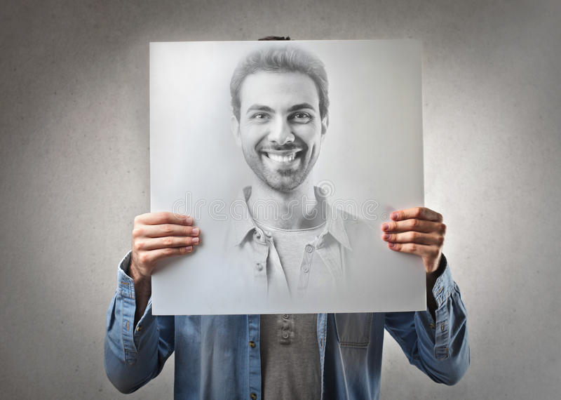 Download Man smiling stock image. Image of cover, carton, positive - 31130477
